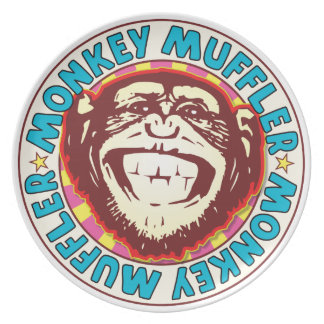 Muffler Monkey Party Plate