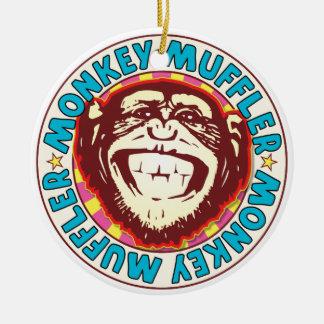 Muffler Monkey Round Ceramic Decoration