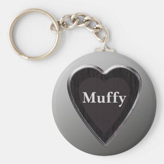 Muffy Heart Keychain