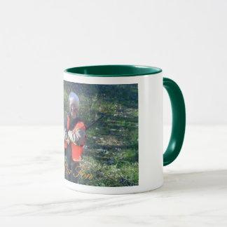 Mug, 11 oz, combo, designer photo, green trim mug