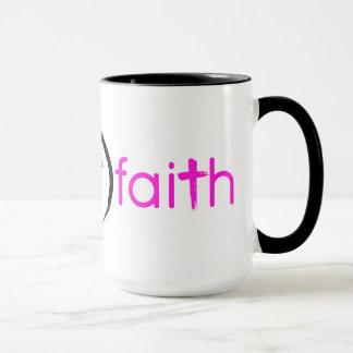 Mug 15 oz. Ringer Style Pink Have Faith