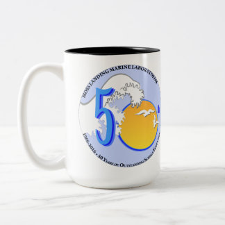 Mug (15 oz): two-tone, 50th wave/sun