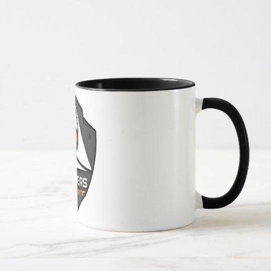 Mug 2 colors White/Black with logo