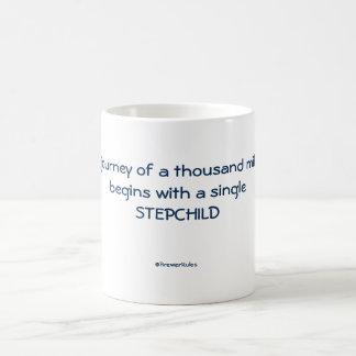 Mug: A journey of a thousand miles begins with... Basic White Mug