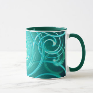 Mug abstract space background