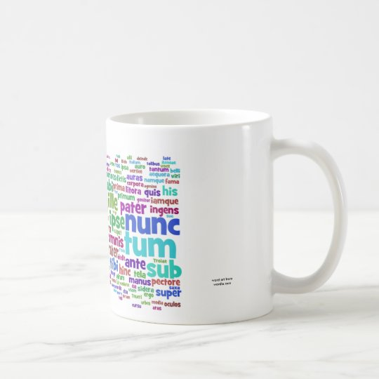 mug: aeneid 200 main words coffee mug