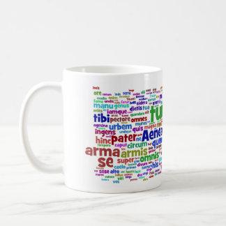 mug: aeneid 300 main words basic white mug