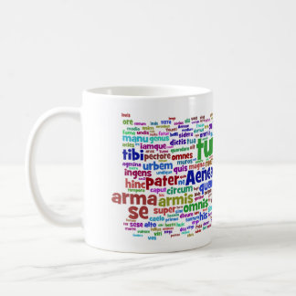 mug: aeneid 300 main words coffee mug