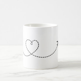 Mug Airplane Heart