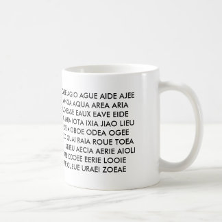 "Mug - ""All I have are Vowels!"""