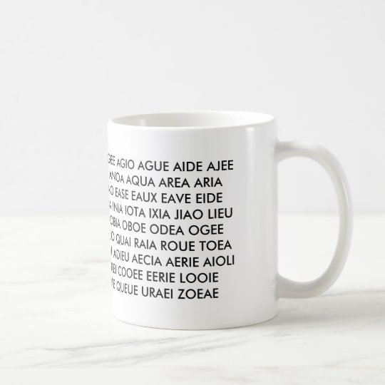 """Mug - """"All I have are Vowels!"""""""