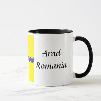 Mug - Arad, Romania, Flag