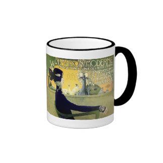 Mug: Art Nouveau -La Maison Moderne Ringer Mug