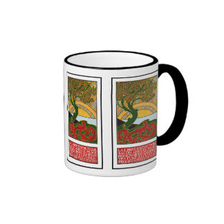 Mug:  Art Nouveau Poster - La Libre Esthetique Ringer Mug