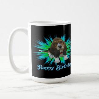 Mug Baby Basset Hound Sheldon Happy Birthday