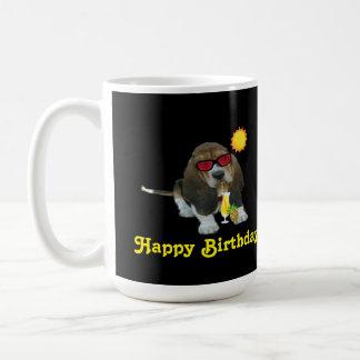 Mug Baby Basset Hound Summer Time Happy Birthday