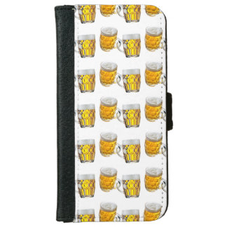 Mug Beer with white background iPhone 6 Wallet Case