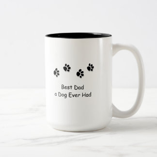 Mug, Best Dad a Dog Ever Had Two-Tone Coffee Mug