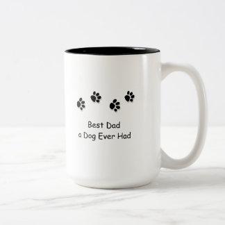 Mug, Best Dad a Dog Ever Had Two-Tone Mug