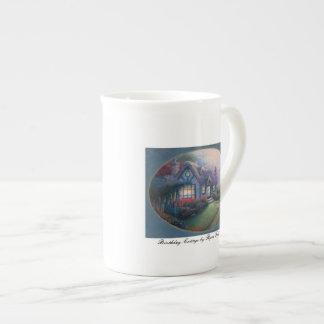 Mug BIRTHDAY COTTAGE bone china