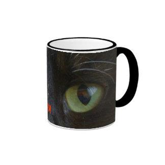 Mug: Black Cat Eyes Ringer Mug
