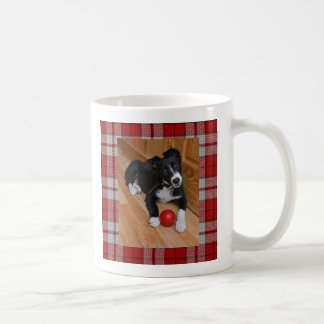 Mug- Border Collie on Cameron Tartan Coffee Mug