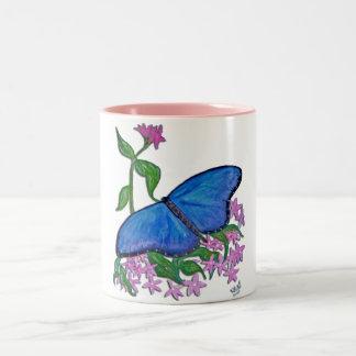 Mug - butterfly blue