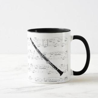 Mug - Clarinet with sheet music