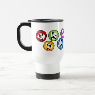 mug coffee martial arts karate kick