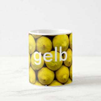 mug: colors german yellow (gelb) coffee mug