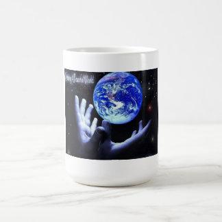 MUG- CREATING A PEACEFUL WORLD BASIC WHITE MUG
