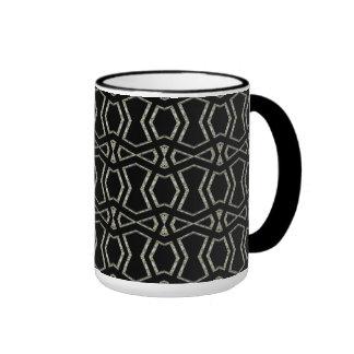 Mug Cup Black Silver Art Deco 1 Mug