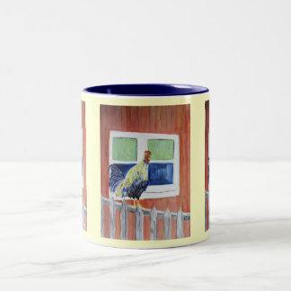Mug/Cup - Rooster Art - Show Off Two-Tone Mug