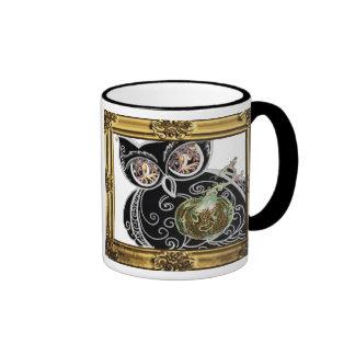 Mug Cup Stein Halloween tribalOwl & Pumpkin, frame