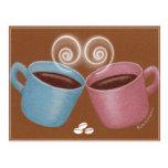 Mug Cupple Postcard
