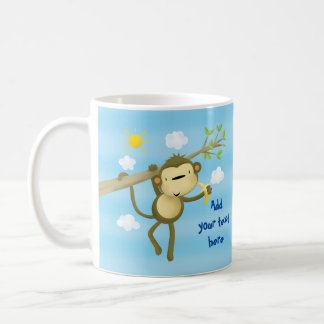 MUG - Custom cute cheeky little monkey in tree