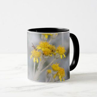 mug- cute bee collecting nectar- beautiful nature mug