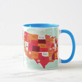 mug, donut, usa, state mug