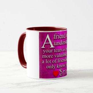 mug, eleven oz, maroon, handle, inside mug