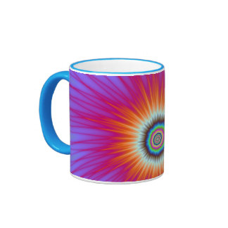 Mug  Explosion in Pink Blue and Red