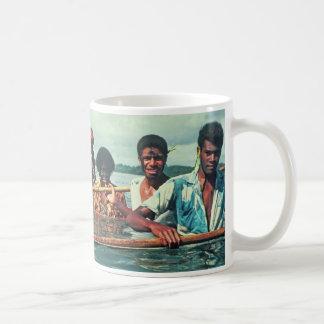 "Mug, ""Fishing at Naivuruvuru Village, Fiji"" Basic White Mug"
