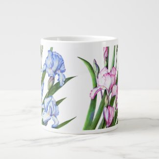Mug - Floral Iris Design