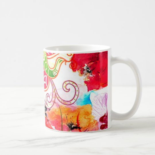 Mug flower nature print