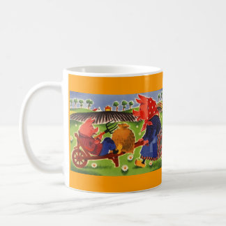 Mug ~ FolkArt Anthropomorphic Pigs Farm Chores