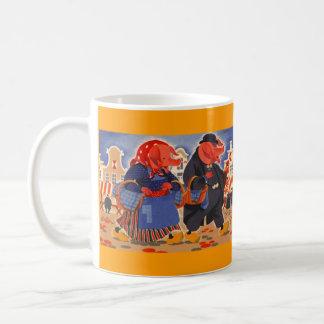 Mug ~ FolkArt Anthropomorphic Pigs Farm Market