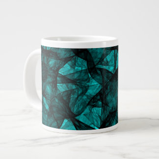 Mug fractal art black and green