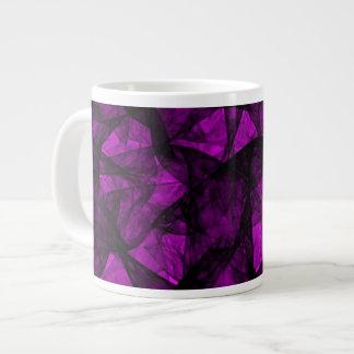 Mug fractal art black and pink