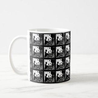 Mug, Giant Pandas Pop Art, Black and White