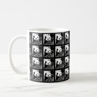Mug, Giant Pandas Pop Art, Black and White Basic White Mug