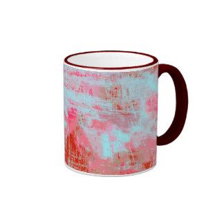 Mug Grunge texture the pink-azure